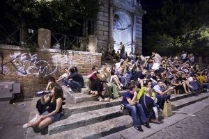 Sit-in à Trastevere