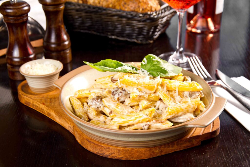 penne champignons jambons